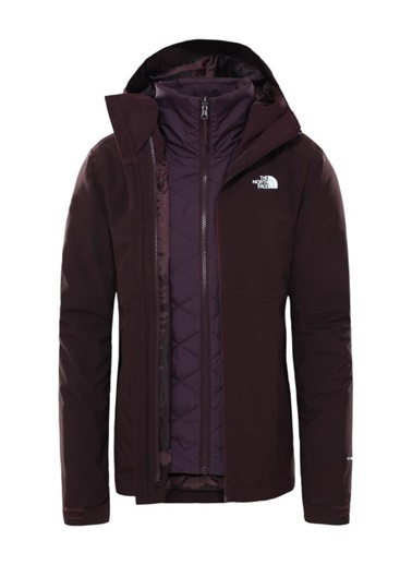 The North Face The North Face Carto Triclimate Kadın Mont Bordo Kahve